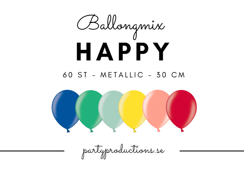 Ballongmix Happy Metallic