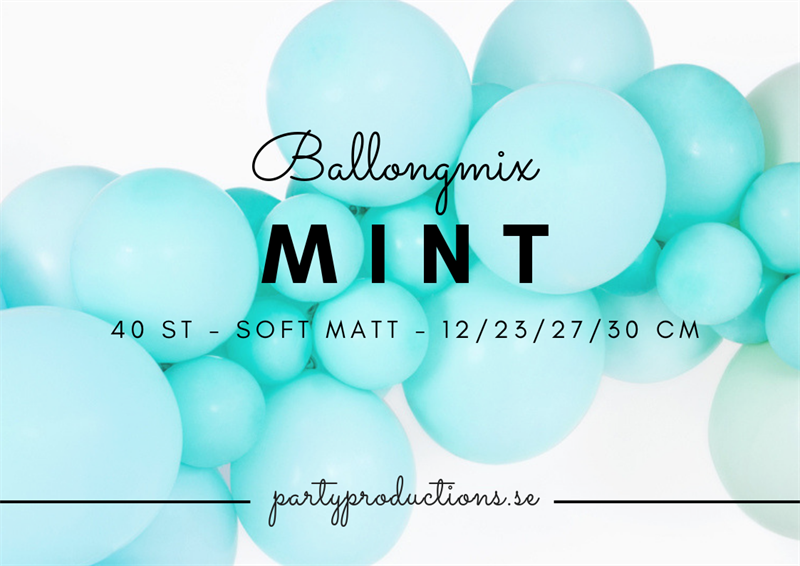 Ballongmix Soft Matt Mint