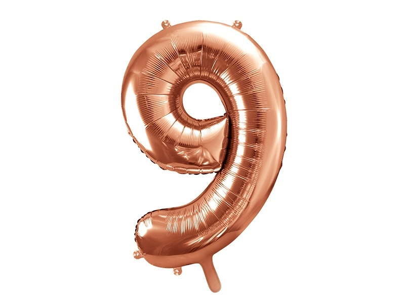 PD-Ballong folie rose gold siffra 9