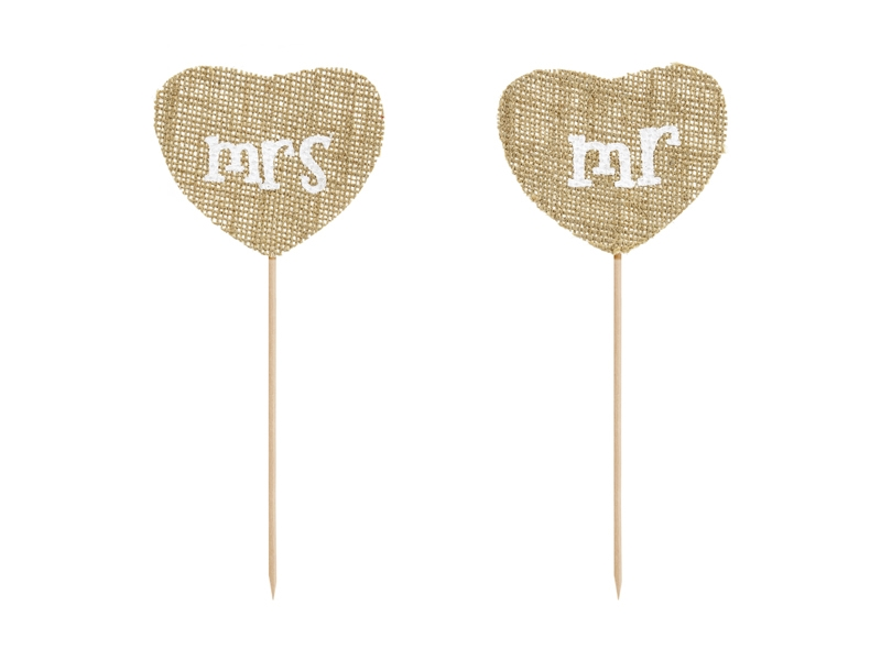 PD-Toppers Rustic Mr & Mrs Natur