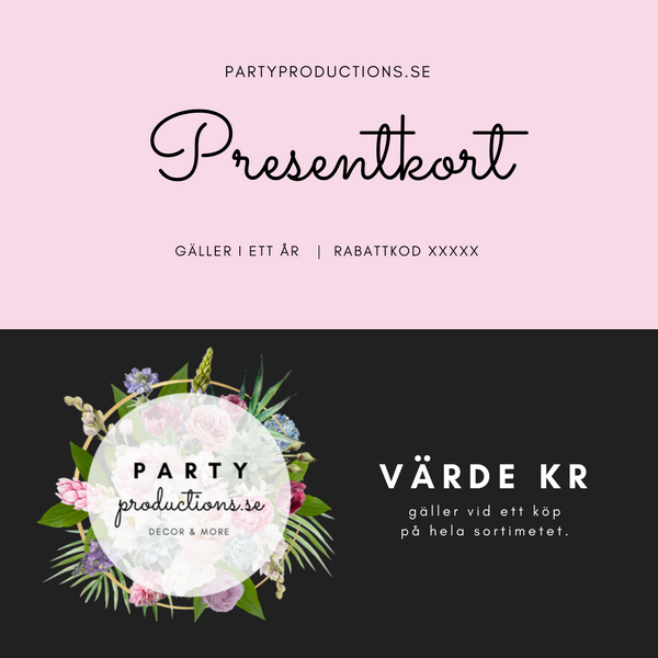 Presentkort Party Productions