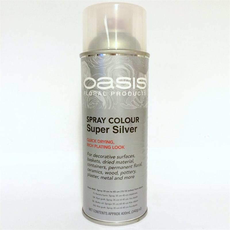 Sprayfärg oasis silver till blommor 57373e7a0f310