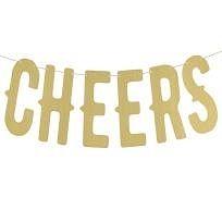 cheers girlang fest guld banner party