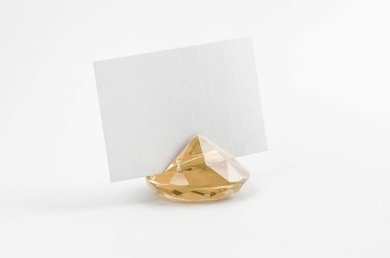 Placeringshållare Diamant Guld