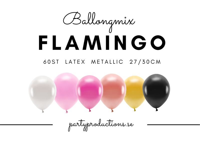 Ballongmix Flamingo Metallic
