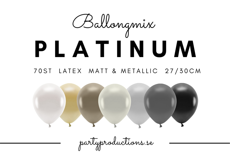 Ballongmix Platinum Matt/Metallic