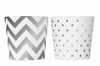 Mugg Snacks Chevron Dots Silver